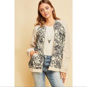 🎉HP🎉 Columbia - Paisley print fleece jacket